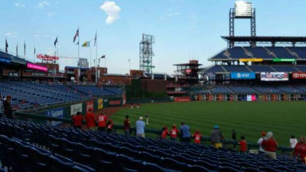 Citizens Bank Park, secção: 138, fila: 26, lugar: 9