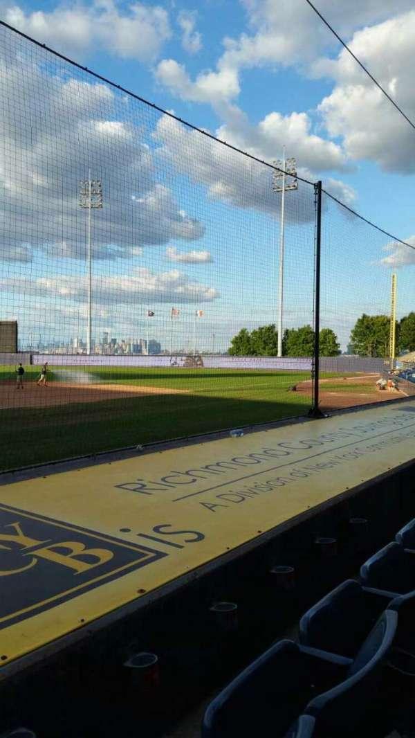 Richmond County Bank Ballpark, secção: 11, fila: E, lugar: 9