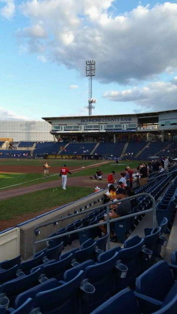 Richmond County Bank Ballpark, secção: 2, fila: F, lugar: 9