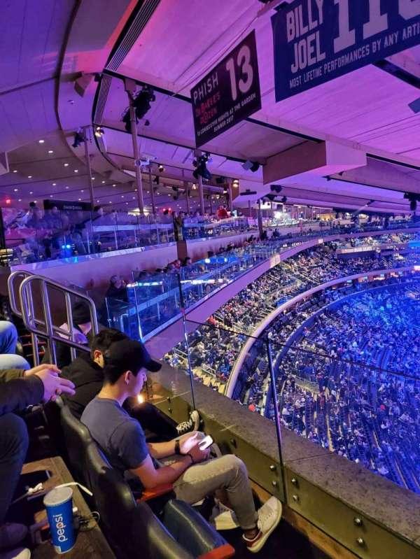 Madison Square Garden, secção: 301, fila: 2, lugar: 16