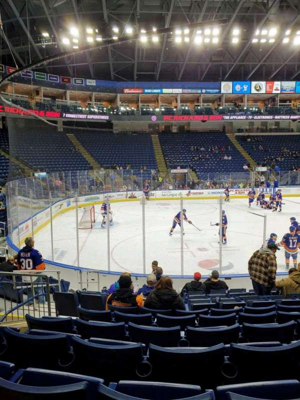 Webster Bank Arena, secção: 103, fila: G, lugar: 9