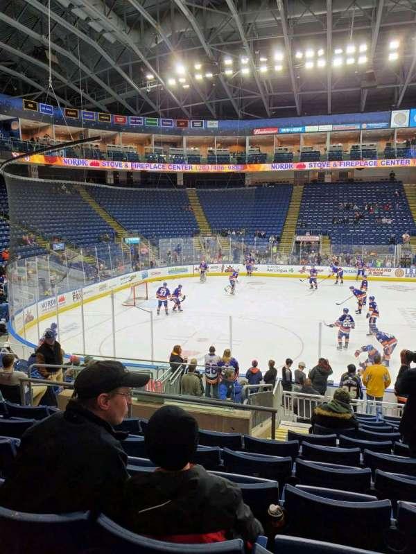 Webster Bank Arena, secção: 104, fila: L, lugar: 17