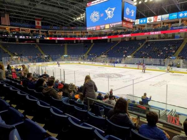 Webster Bank Arena, secção: 106, fila: J, lugar: 1