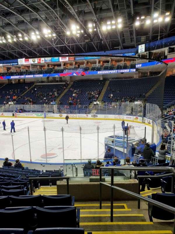 Webster Bank Arena, secção: 107, fila: K, lugar: 1