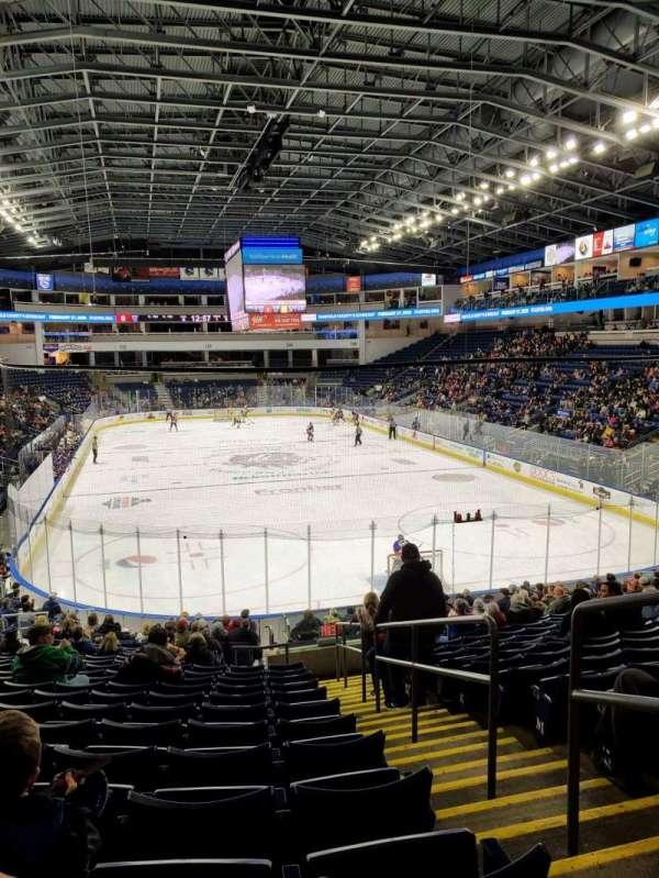 Webster Bank Arena, secção: 119, fila: S, lugar: 2
