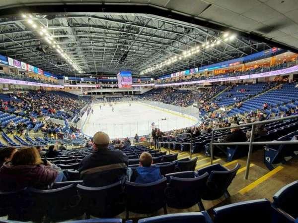 Webster Bank Arena, secção: 119, fila: S, lugar: 4