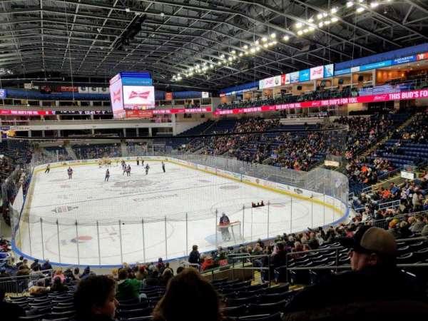 Webster Bank Arena, secção: 119, fila: S, lugar: 7