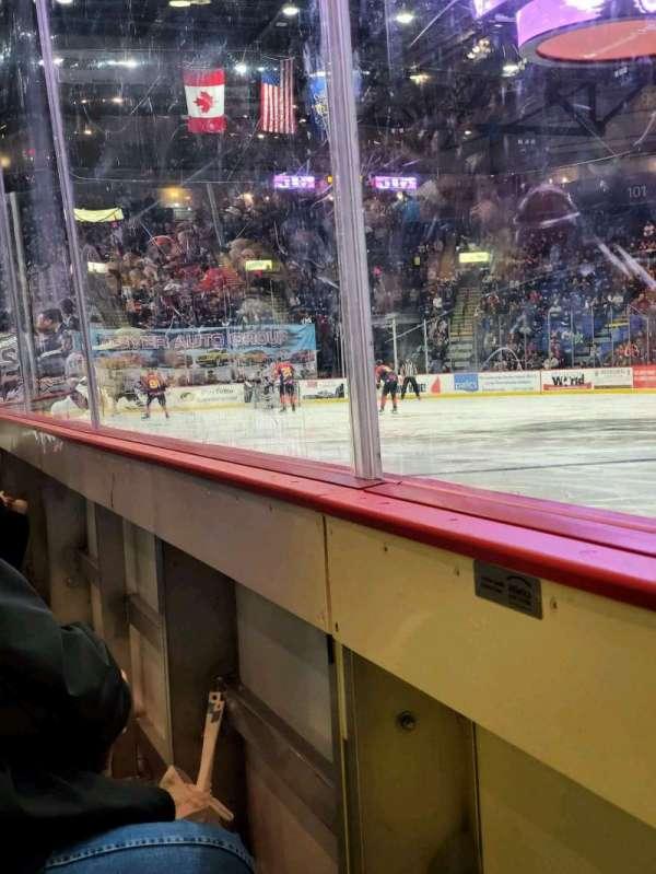 Santander Arena, secção: 114, fila: A, lugar: 7