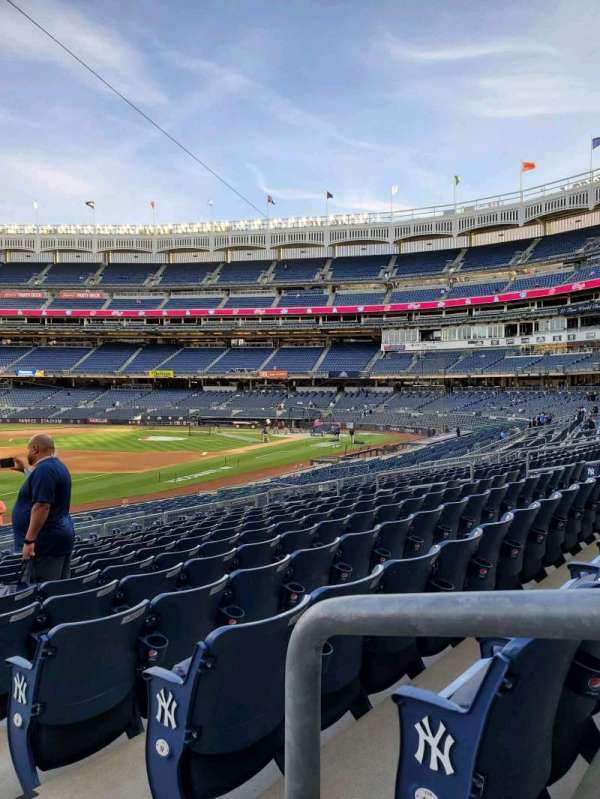 Yankee Stadium, secção: 129, fila: 22, lugar: 1