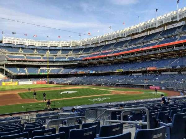 Yankee Stadium, secção: 125, fila: 9, lugar: 4