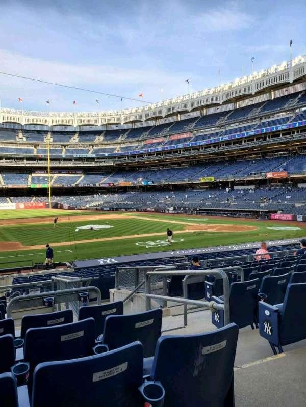 Yankee Stadium, secção: 125, fila: 9, lugar: 3