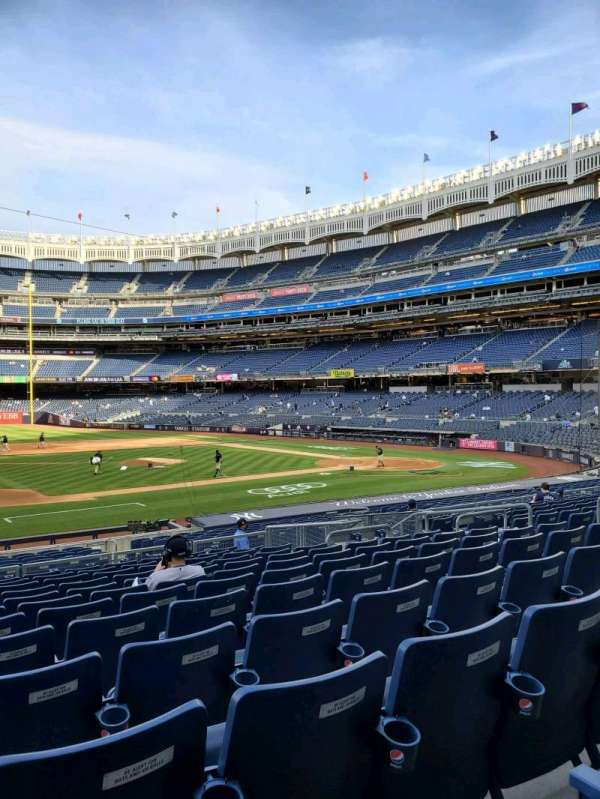 Yankee Stadium, secção: 125, fila: 12, lugar: 7