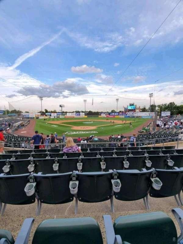 TD Bank Ballpark, secção: 201, fila: P, lugar: 9