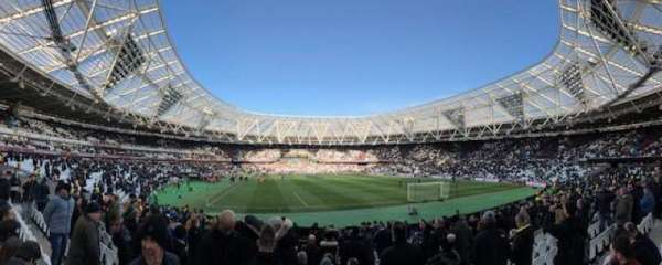 London Stadium, secção: 118, fila: 20, lugar: 95