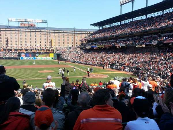 Oriole Park at Camden Yards, secção: 50, fila: 23