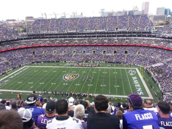 M&T Bank Stadium, secção: 524, fila: 27, lugar: 15