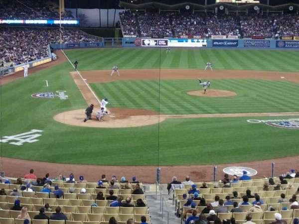 Dodger Stadium, secção: 116LG, fila: B, lugar: 5