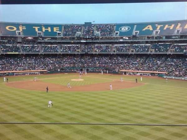 Oakland Coliseum, secção: Box site, fila: 1, lugar: 3