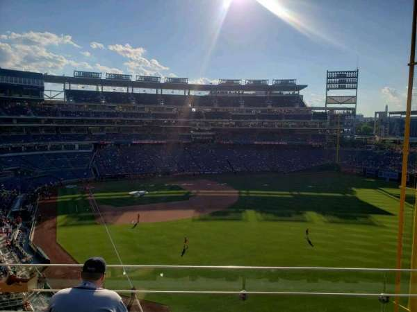Nationals Park, secção: 232, fila: D, lugar: 6