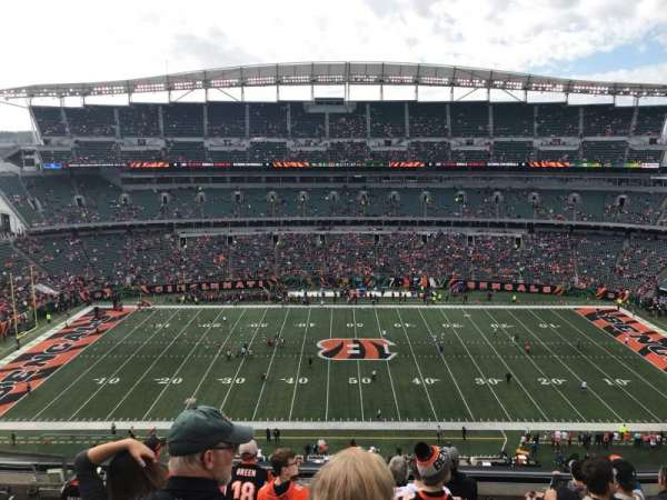 Paul Brown Stadium, secção: 340, fila: 8, lugar: 17