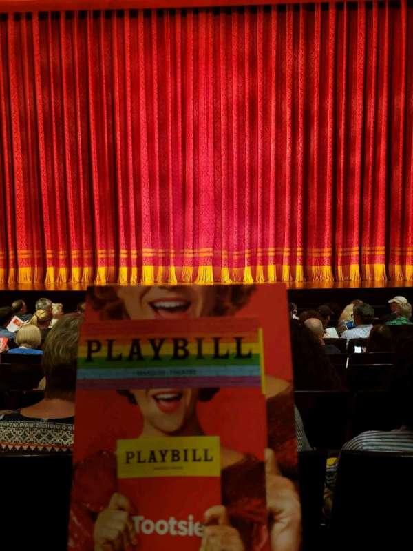 Marquis Theatre, secção: Orchestra C, fila: J, lugar: 112
