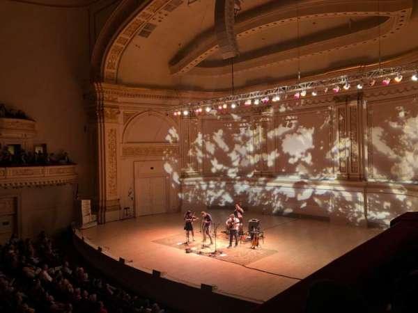 Carnegie Hall, secção: Box 9, fila: 1, lugar: 1