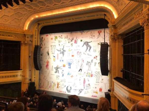Hudson Theatre, secção: Dress Circle Right, fila: D, lugar: 10