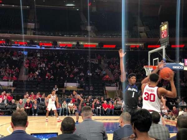 Madison Square Garden, secção: 6, fila: 3, lugar: 6