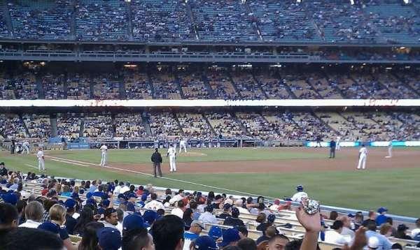 Dodger Stadium, secção: 40FD, fila: L, lugar: 13