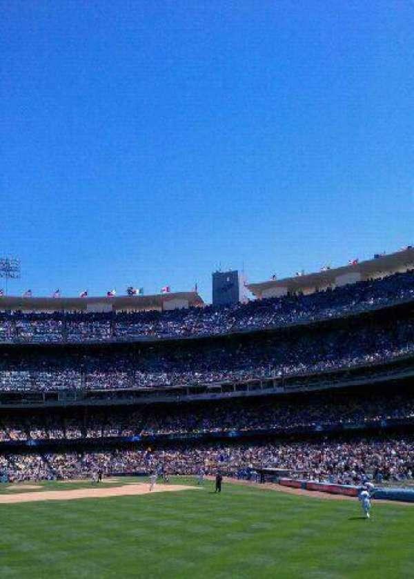Dodger Stadium, secção: 313PL, fila: B, lugar: 3