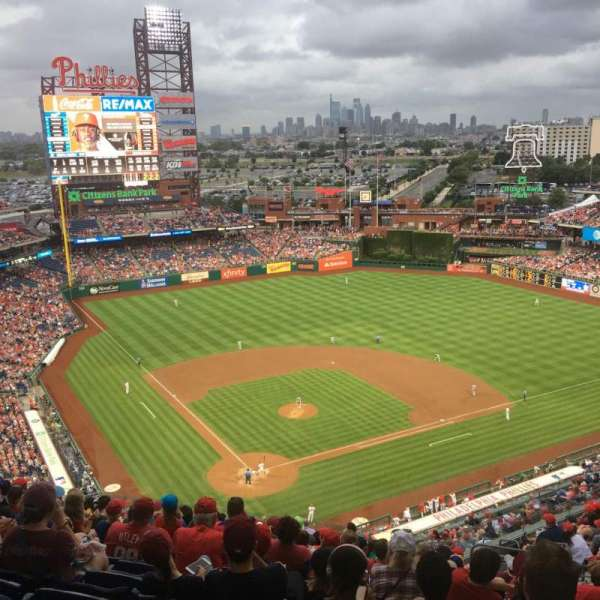 Citizens Bank Park, secção: 419, fila: 16, lugar: 9