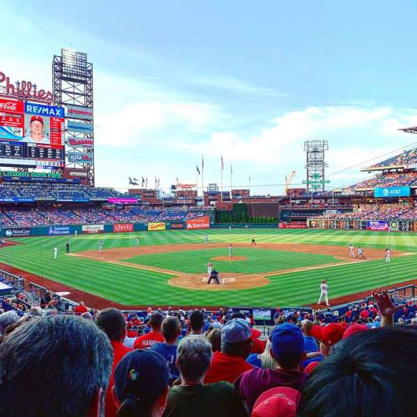 Citizens Bank Park, secção: 123, fila: 29, lugar: 6