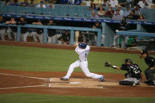 Dodger Stadium, secção: 25FD, fila: W, lugar: 6
