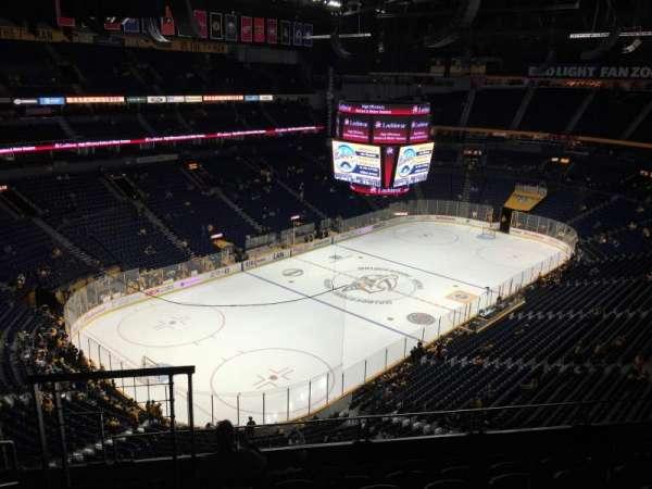 Bridgestone Arena, secção: 305, fila: G, lugar: 12