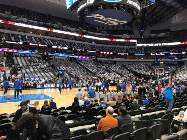 American Airlines Center, secção: 108, fila: F, lugar: 8