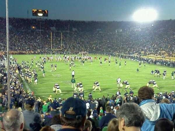 Notre Dame Stadium, secção: 3, fila: 31, lugar: 1