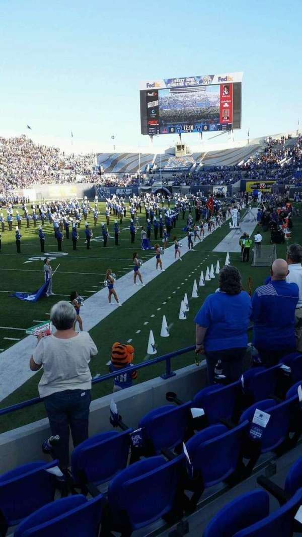 Liberty Bowl Memorial Stadium, secção: 109, fila: 16, lugar: 11