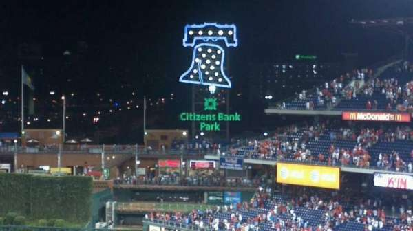Citizens Bank Park, secção: 316, fila: 5, lugar: 11