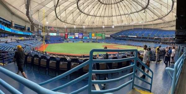 Tropicana Field, secção: 131, fila: Pp, lugar: 25