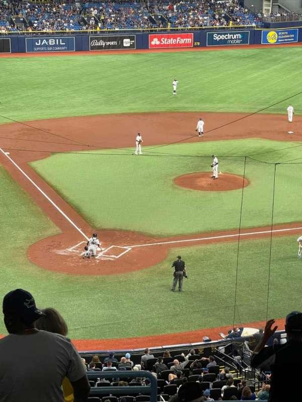 Tropicana Field, secção: 206, fila: D, lugar: 1