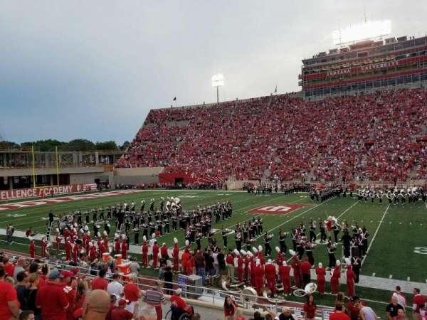 Memorial Stadium (Indiana), secção: 25, fila: 19, lugar: 1