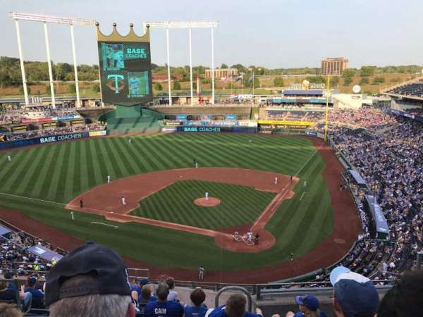 Kauffman Stadium, secção: 417, fila: N, lugar: 8