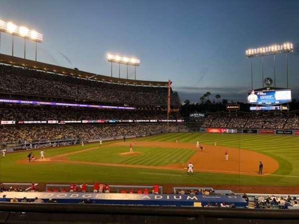 Dodger Stadium, secção: 136LG, fila: B, lugar: 2