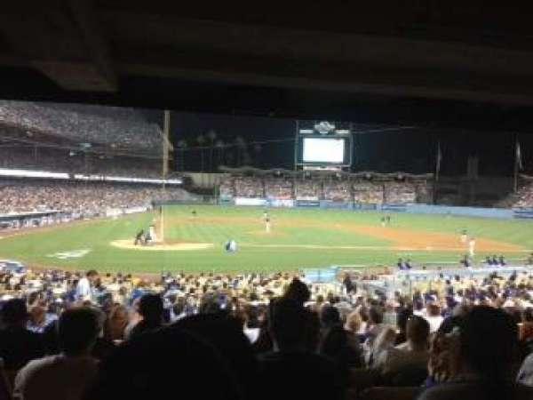 Dodger Stadium, secção: 10FD, fila: X, lugar: 6