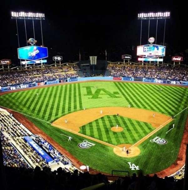 Dodger Stadium, secção: Top Deck, fila: M, lugar: 6