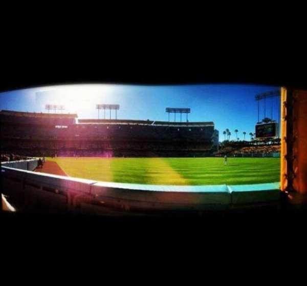 Dodger Stadium, secção: Prefered Field Level, fila: B, lugar: 7