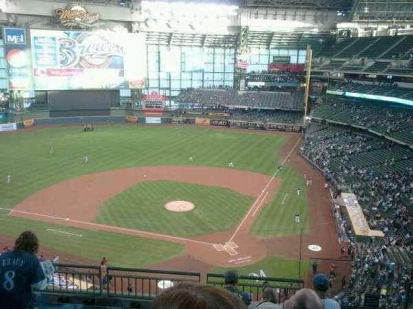 American Family Field, secção: 425, fila:  6, lugar:  2