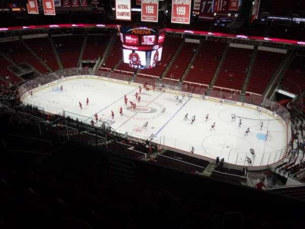 PNC Arena, secção: 302, fila: H, lugar: 8