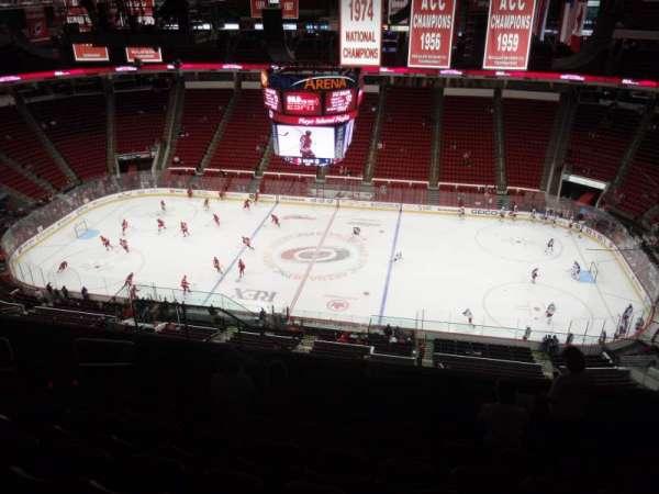 PNC Arena, secção: 303, fila: K, lugar: 19