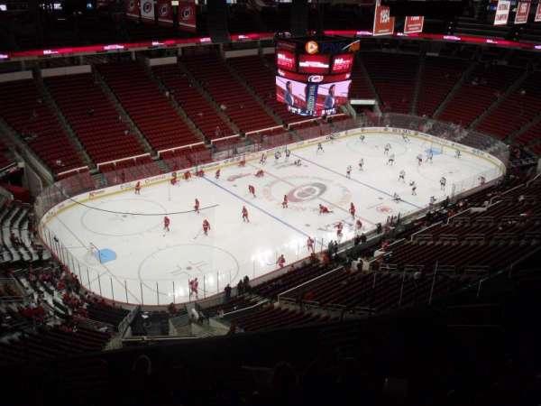 PNC Arena, secção: 308, fila: L, lugar: 10